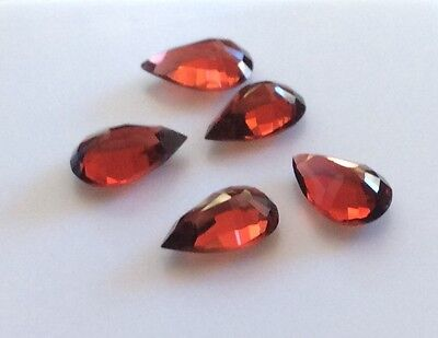 7 PC PEAR CUT SHAPE NATURAL GARNET 7MM x 5MM LOOSE GEMSTONE