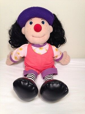 "Loonette The Clown 1995 RARE Molly Big Comfy Couch PBS 20"" Doll Plush Vintage"