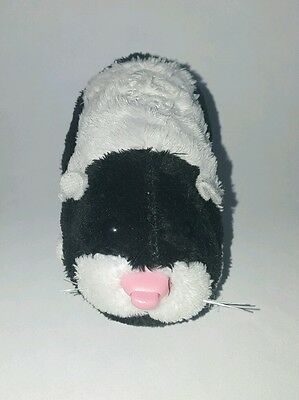 Zhu Zhu Pet Hamster Winkie Black White With Name Tag Tested and Working
