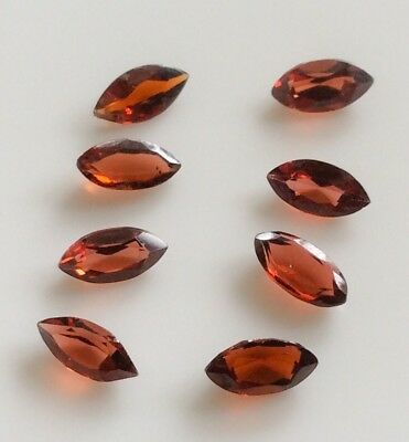 8 PC MARQUISE CUT SHAPE NATURAL GARNET 6MM x 3MM LOOSE GEMSTONE