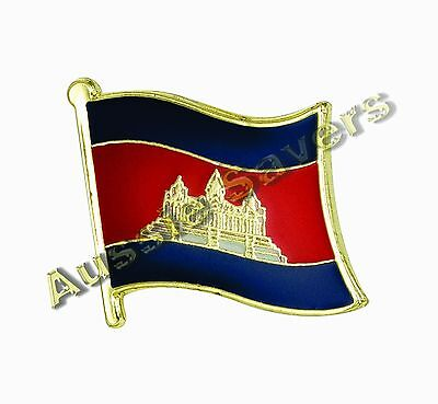 Cambodia Flag Hat Pin / Badge - Brand New