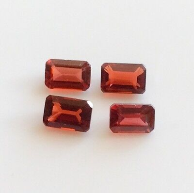 EMERALD CUT SHAPE NATURAL GARNET 6MM x 4MM 1 PC LOOSE GEMSTONE