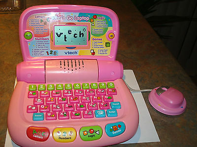 VTECH TOTE 'N GO LAPTOP Full Learning System Letters Numbers Logic & Games   2