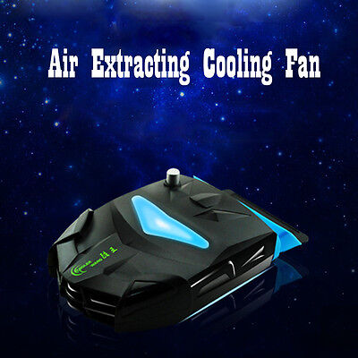 Mini LCD Laptop Vacuum Air Extract Cooling Fan Notebook Radiator USB Cooler Pad
