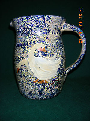 """""""STORIE POTTERY CO. - MARSHALL, TEXAS"""" Hand Painted Ceramic Pitcher:  FREE SHIP!"""