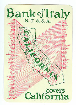 1928 Bank of Italy Calendar, in 1928 Bank of Italy Became BANK OF AMERICA