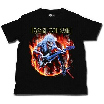 Iron Maiden Fear Live Flames Kids T Shirt Ofcl Boys Girls Toddler Tshirt T-shirt