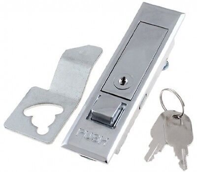 File Electric Cabinet Networking Door Metal Safety Lock 4.1' W 2 Pcs Keys