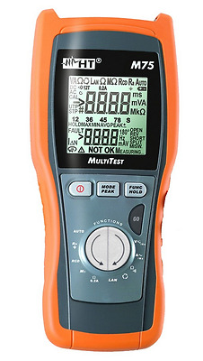 HT Italia MultiTest M75 Advanced DMM with Multifunction & LAN Cable Tester