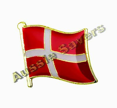 Denmark Flag Hat Pin / Badge - Brand New