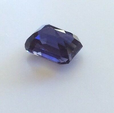 EMERALD SHAPE CUT NATURAL IOLITE  1.84CT 8MM x 6MM FACETED 1PC LOOSE GEMSTONE