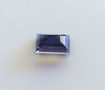EMERALD SHAPE CUT NATURAL IOLITE  1.45CT 7MM x 65M FACETED 1PC LOOSE GEMSTONE