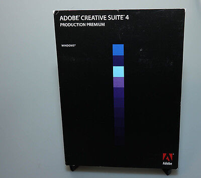Adobe Production Premiume CS4 for Windows verified activation capable full ver