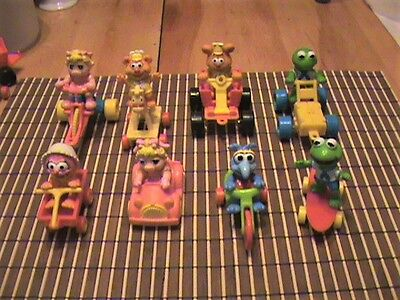 Complete Set Of 8 Rare McDonald's Muppet Babies Vintage Happy Meal Toys