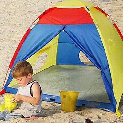 WolfWise Play Tent Indoor Outdoor 4 Kids Play House Sun Shelter Multi-Color