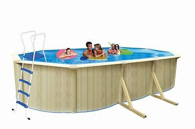 Above Ground Swimming Pool 6.1m x 3.6m x 1.2m WITH POOL LIGHT