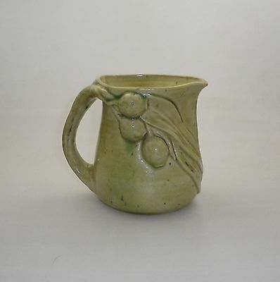 Rare Merric Boyd Jug  Decorated  With Applied Gum Leaves And Nuts And Koala
