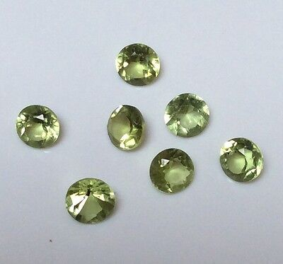 10 Pc Round Cut Shape Natural Peridot 4Mm-4.5Mm Faceted Loose Gemstones