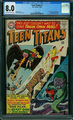 TEEN TITANS #1 CGC 8.0 Batman, Aquaman, Flash, Wonder Woman app! 1966