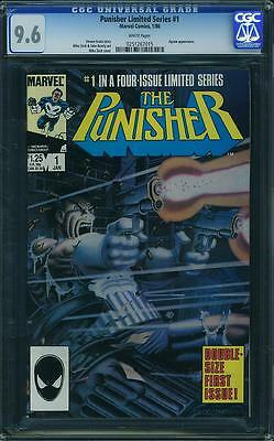 PUNISHER LIMITED SERIES #1-5 SET CGC 9.4-9.8 SS All White Pages!