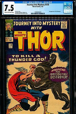 JOURNEY INTO MYSTERY #118 CGC 7.5 1st Destroyer!