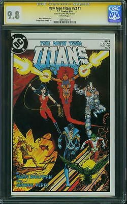NEW TEEN TITANS #1 V2 CGC 9.8 SS Signed by George Perez!