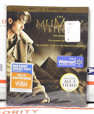 Like New The Mummy Trilogy Blu-Ray! 3 Discs+Slipcover! No Digital! Basically New