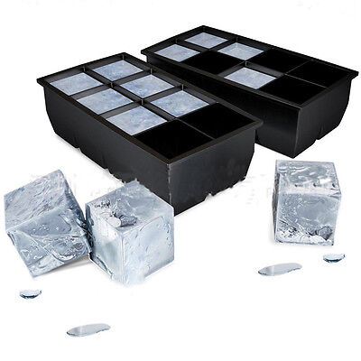 Big Giant Jumbo King Size Large Silicone Ice Water Cube Square Tray Mold Mould