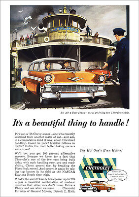 Chevrolet 56 Bel Air Retro A3 Poster Print From Classic Advert 1956