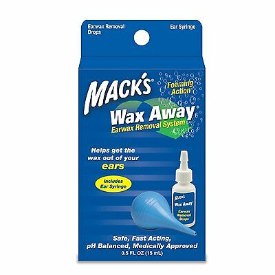 Mack's Wax Away Earwax Removal System with Bulb Syringe