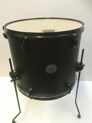 Mapex Storm 16x14 floor tom in textured black with matching legs and hardware