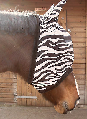 Maxima Zebra Fly Mask *5 Sizes Available* Its A Proven Fact - Flies Hate Stripes