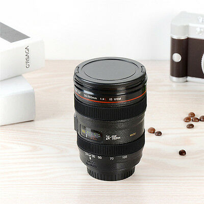 400ml Stainless Steel Camera Lens Liquor Keychain Tool Shot Glass Cup Travel Mug