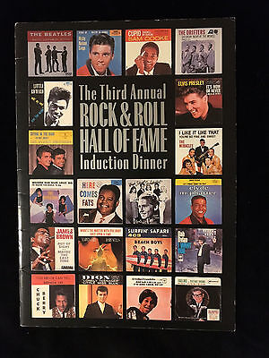 Beatles-Dylan-Supremes-1988 Rock And Roll Hall Of Fame-Induction Program