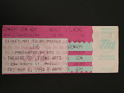 Live-The Band Ticket Stub-Theater Of The Living Arts-Philadelphia 1994