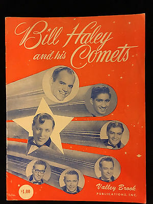 ORIGINAL-1956 BILL HALEY AND HIS COMETS-Sheet Music Book with Many Songs