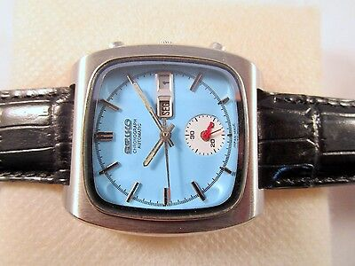 Vintage Seiko Chronograph Monaco Automatic 5 Hands Japan Made Collectible Watch