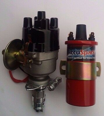 AccuSpark 45D4 Electronic Distributor & Sports Coil for Land Rover Series 3