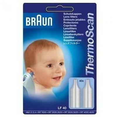 40 Embouts Jetables pour Thermoscan Braun LF40
