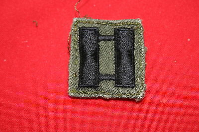 Original Us Vietnam Period Army Captain Rank Bars Subdued Twill Removed