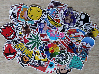 10 Pieces Stickers Skateboard Sticker Graffiti Laptop Luggage Car Decals