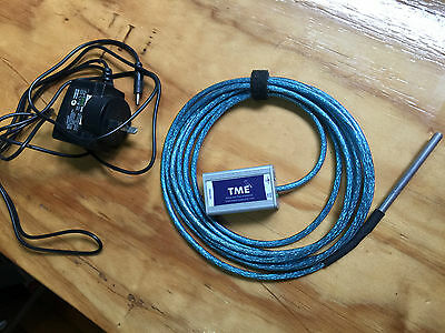 TME - Ethernet Thermometer with supported:TCP, SNMP, SMTP, MODBUS TCP and XML