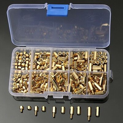 300Pcs M3 Brass Standoff Spacer Hex Hexagonal 3mm Nuts Screw Pillars Set