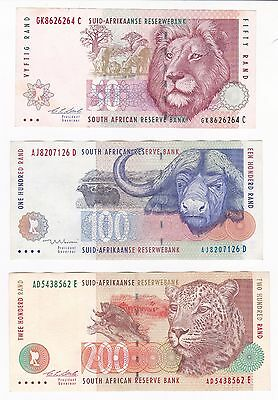 South Africa: Banknote - 50, 100 & 200 Rand 1992-1999 - High Grade - (24)