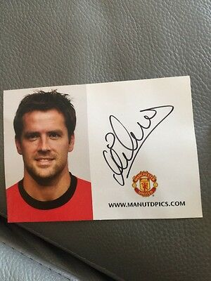 2009-10 Michael Owen Signed Manchester United Club Card Promo England