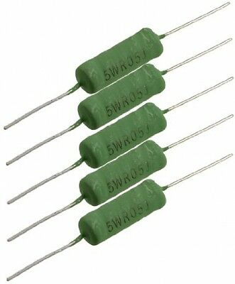 Sourcingmap A12072400ux0172 5 W 0.5 Ohm Fixed Wire Wound Power Resistor -