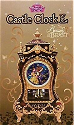 New Disney princess Castle Clock Beauty and the Beast from Japan F/S