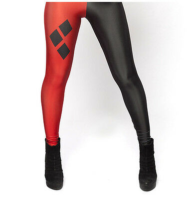 Womens Super Hero Comic Harley Quin Suicide Squad Full Length Leggings Pants