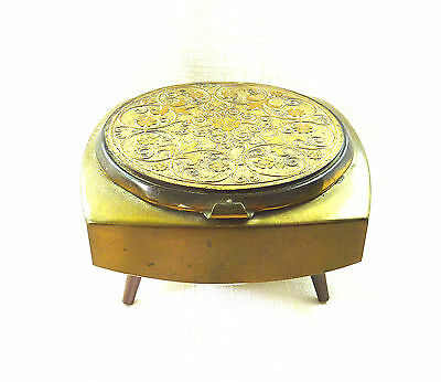 Antique Musical, Footed Powder Compact with Mirror