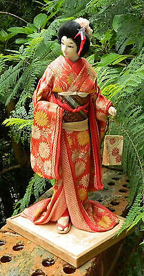 VINTAGE Antique Japanese Traditional Geisha Doll 45.5 cm